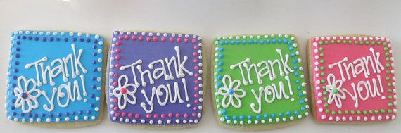 Thank you cookies 2 dozen by TheSweetShopCookieCo on Etsy, $57.90