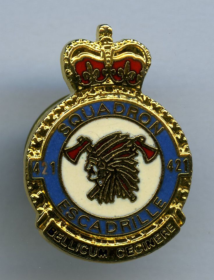 RCAF 421 Squadron Canadian military, Badge