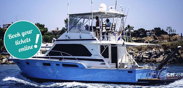 Motor Yacht Half Day Cruise to Diaporos #touring #TTOT #travel #greece #Halkidiki #thingstodo #axperiences #summer