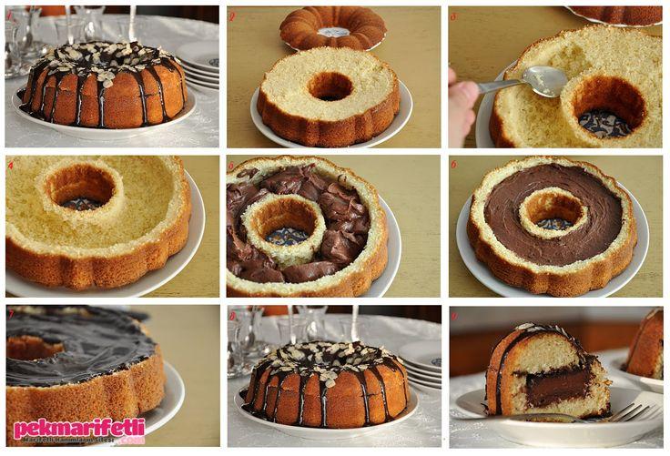İçi dolgu çikolatalı kek nasıl yapılır? | Mutfak | Pek Marifetli!