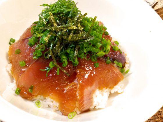 ウル得マン かつお カツオのヅケ丼 レシピ