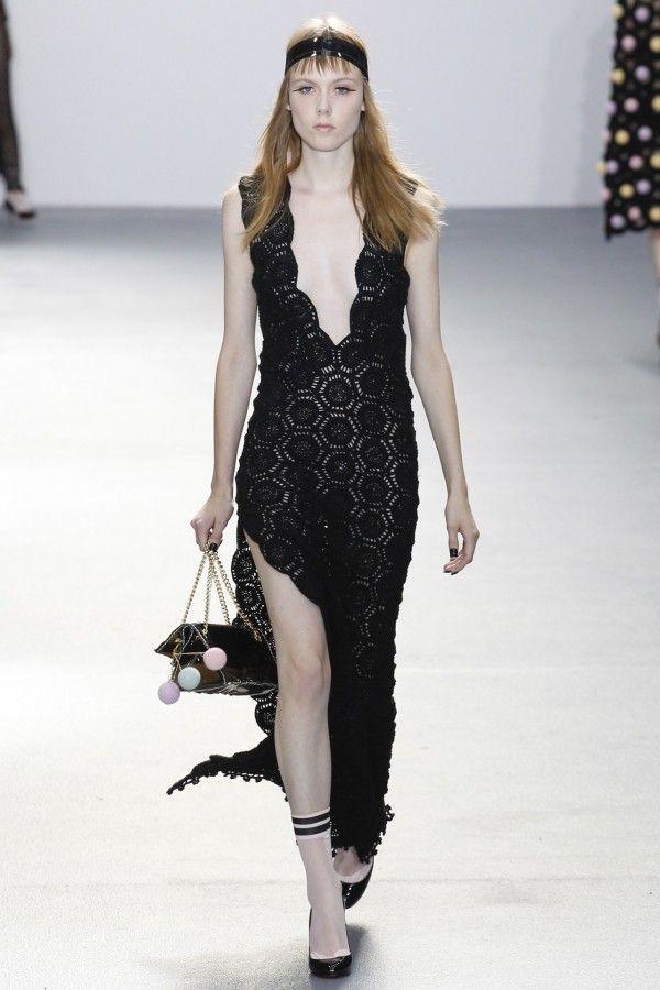 Imagini pentru black crochet dress