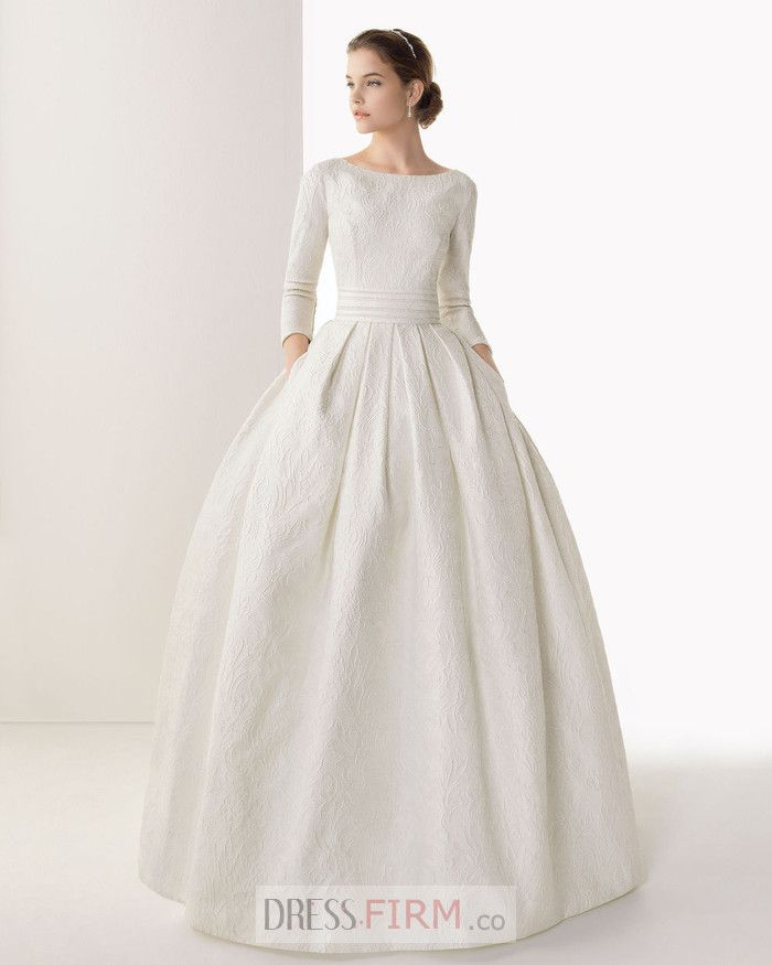 2016 Adble Ball Gown with Long Sleeves Lace Court Train Wedding Dress [SWD-28689] - $ 294.99 :