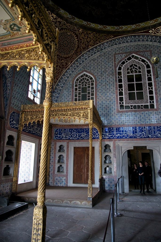 The Privy Chamber of Sultan Murat III at Topkapı Palace. It's one of the oldest rooms in the Harem. #travel #ttot http://mikestravelguide.com/things-to-do-in-istanbul-visit-the-harem-at-topkapi-palace/