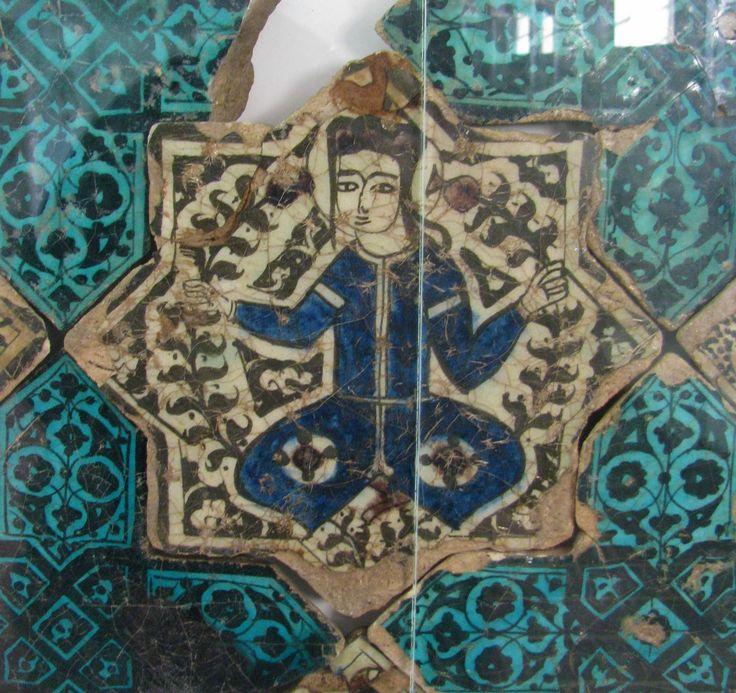 Alix Knipe | Ceramics Fulbright Scholar to Turkey | Turkish Pottery | Çini Tiles: Karatay Museum-Human Figures on Tiles