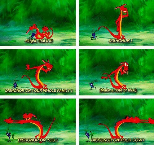 Day 6: Mushu is my favorite animal.  He's HILARIOUS.  He makes that movie.