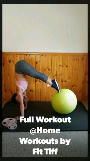 Stability ball workout video for a flat stomach and tone abs