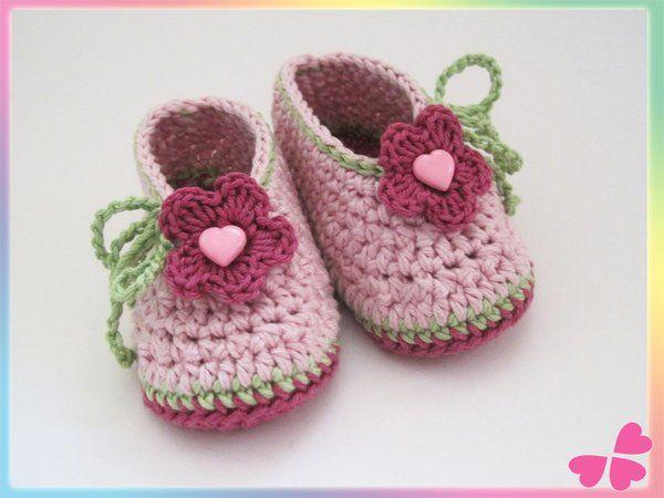 41 best Schuhe häkeln images on Pinterest | Babyhäkelei, Babyschuhe ...