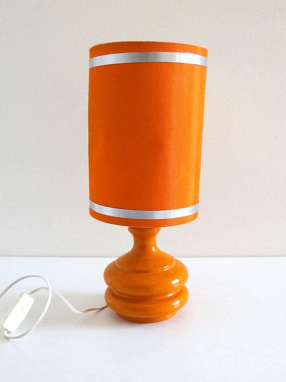 Lampe vintage années 70 orange par BrocAndPop sur Etsy ...