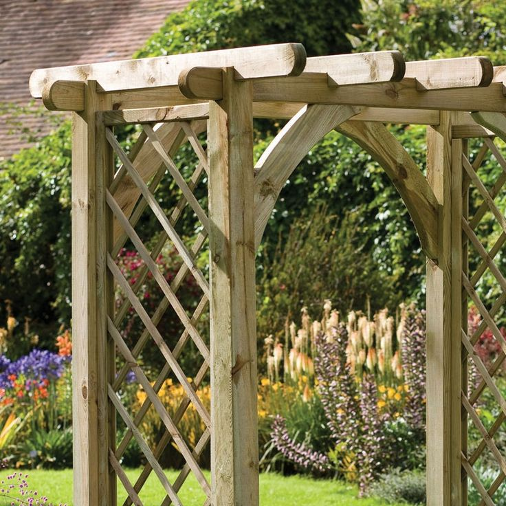106 best images about rose trellises on pinterest gardens vines and white picket fences - Garden wood arches ...