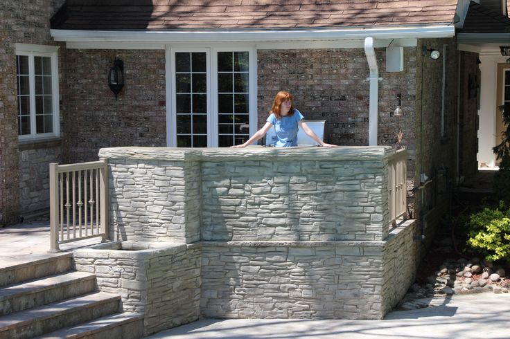 This is a custom made bar area on a Hickory Dickory Deck in Mississauga Ontario.