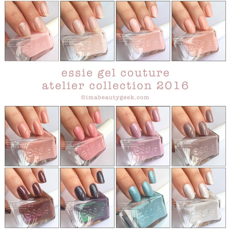 Essie Gel Couture Atelier Collection 2016. All swatches & review at imabeautygeek.com