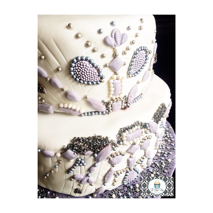 Super bedazzled cake I mad for a 25th wedding anniversary :)