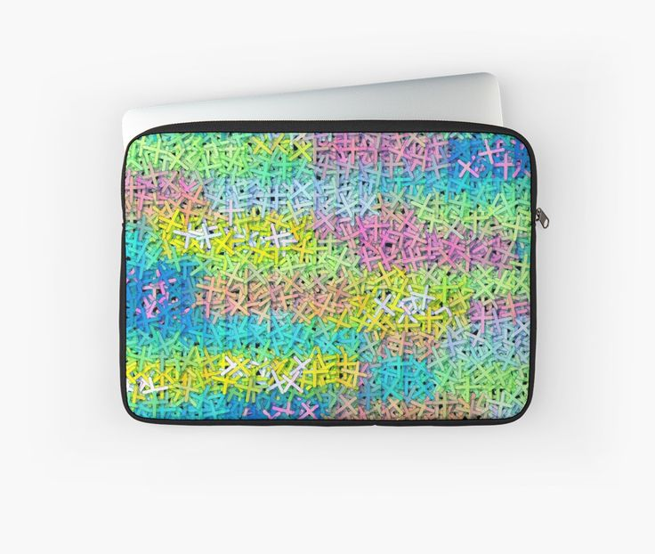 A colorful and unique  sleeve, perfect for your #laptop #technology @redbubble