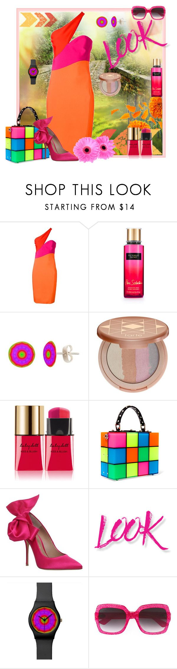 """Look at Here!"" by lkriss ❤ liked on Polyvore featuring Thierry Mugler, Victoria's Secret, tarte, Yves Saint Laurent, Dolce&Gabbana, Kurt Geiger, NYX, Gucci, Summer and summerstyle"