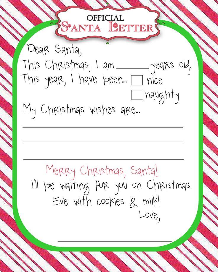 Best 25 Santa template ideas – Sample Christmas Wish List
