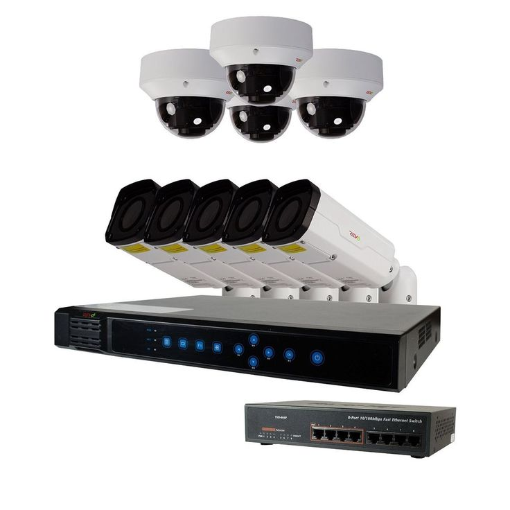 Revo 4Channel 4MP Super HD IP NVR Security System with 1TB Hard Drive 4 Cameras #RevoAmerica