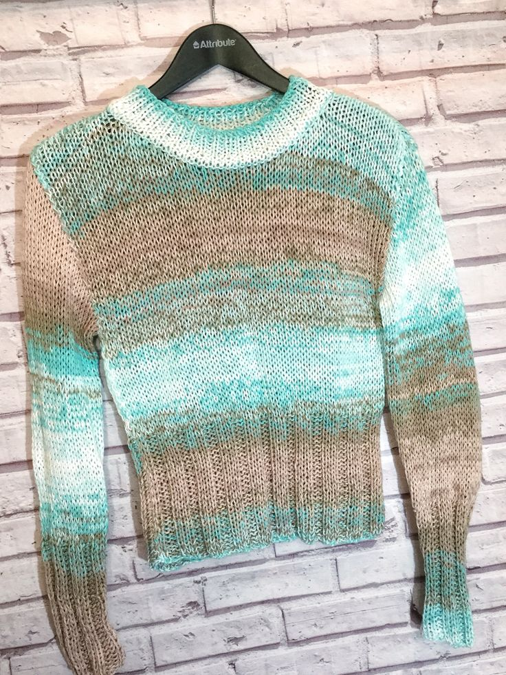 Women's sweater|Beige pullover|Turquoise clothing|Chunky knit sweaters|Warm sweater|Women jumper|Hand knitted clothing|Cotton pullover