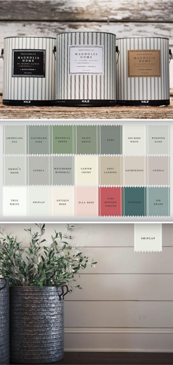 25 best ideas about paint color palettes on pinterest - Joanna gaines interior paint colors ...