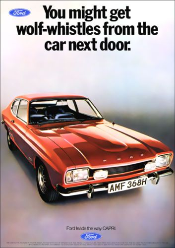 FORD CAPRI mk1 RETRO A3 POSTER PRINT FROM CLASSIC 70'S ADVERT | eBay