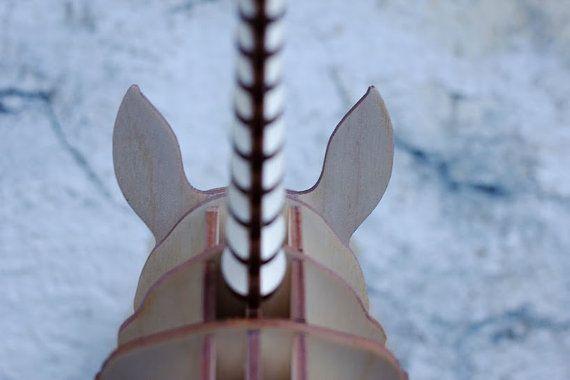 Wooden unicorn 3D animals unicorn by YOURMAYA on Etsy