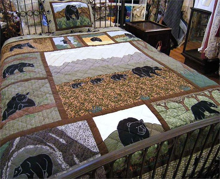 630 best BEAR`S PAW/BEAR QUILTS images on Pinterest | Bear claws ... : country bears and quilts - Adamdwight.com
