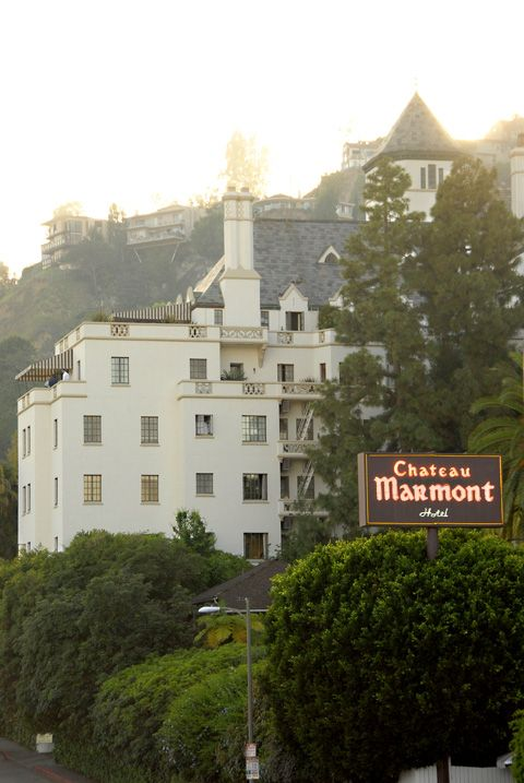 Chateau Marmont .. nestled in the West Hollywood hills along L.A.'s famed Sunset Boulevard