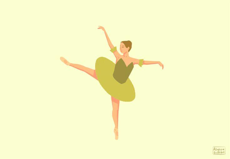 Анимация балерина картинки