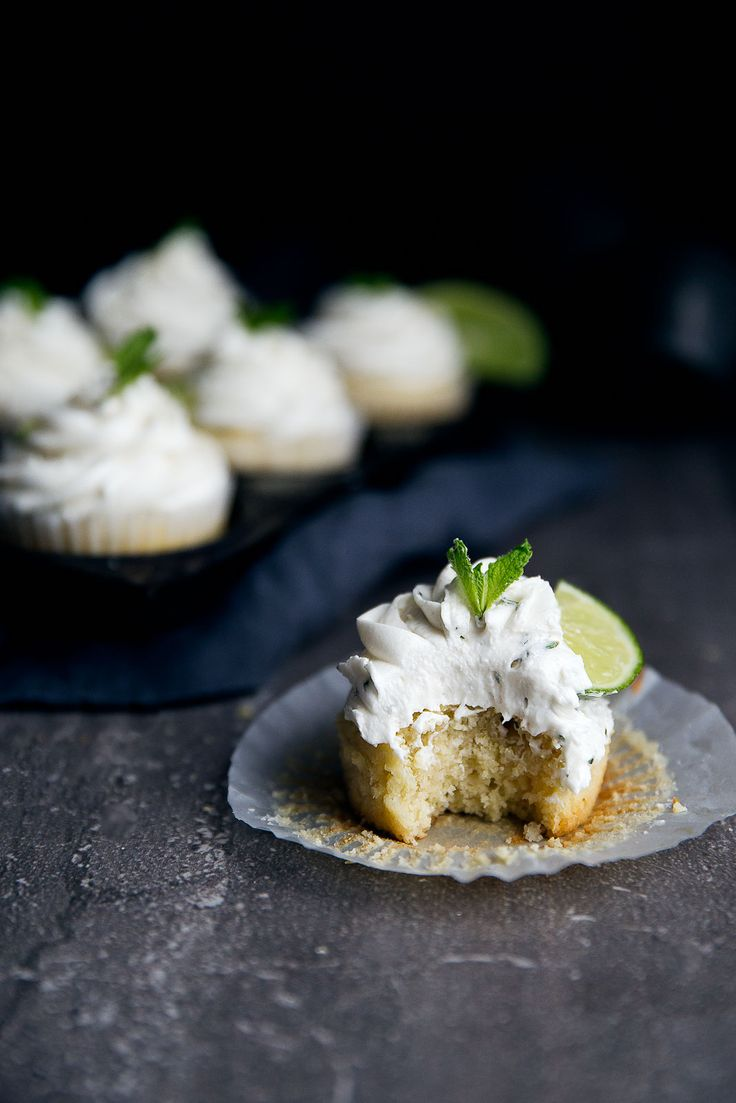 Boozy Mojito Cupcakes: an infusion of lime, mint, and rum, all in one little cupcake!