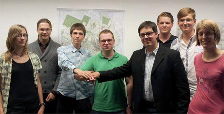 Bastian Linsen (Vorsitzender JU Kreis Kleve), Frank Thon (stellvertretender Vorsitzender der Jusos im Kreis Kleve), David Krystof (Kreisvorstandsmitglied der Grünen Jugend)