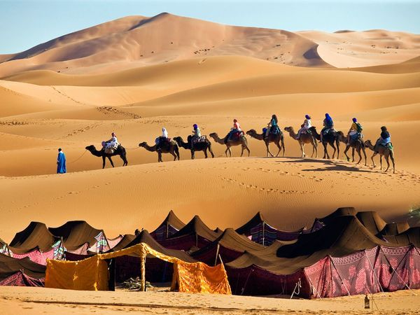 Erg Chebbi- the closest thing to being in the Sahara . Infinite stars at night. Camping on the dunes. Dune boarding. Berbers. Camels. Need I say more? (June 8-17)