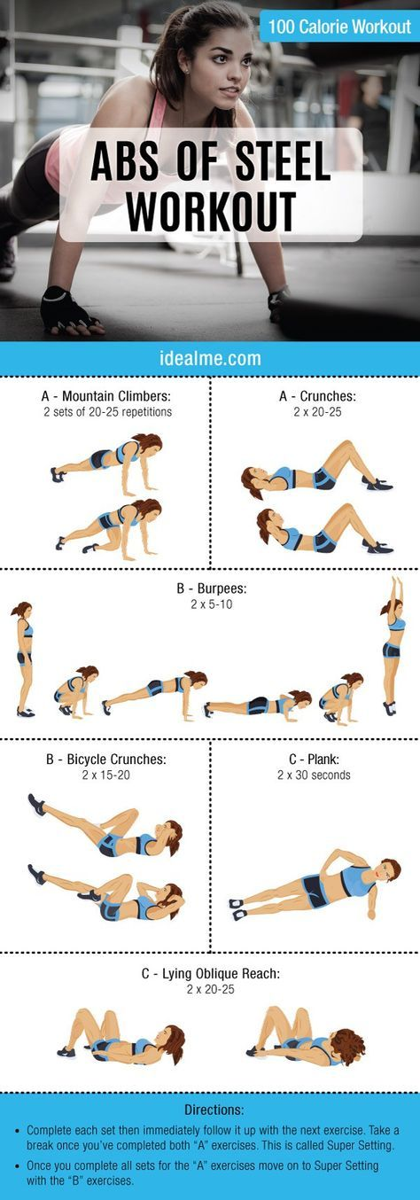 Need a workout overhaul for your abs? Check out our complete abs of steel workout with these six exercises that are sure to get your abdominal muscles toned and defined in no time.