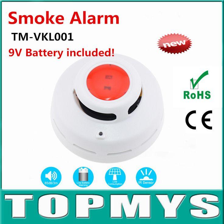 Inalámbrico de Humo/Fuego TM-VKL001 Con Sensor Infrarrojo Photoelectronic detector de Alarma GSM Sistema de Seguridad Casero