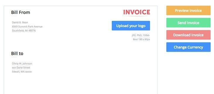 Invoice Maker, una herramienta para crear facturas online sin registro