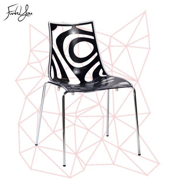 Wave Chair - Transparent / Anthracite. www.funkyou.com.au