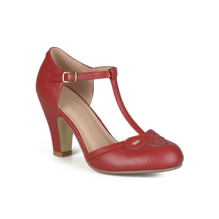 Journee Collection Parley Women's Mary Jane Heels, Teens, Size: medium (7.5), Red