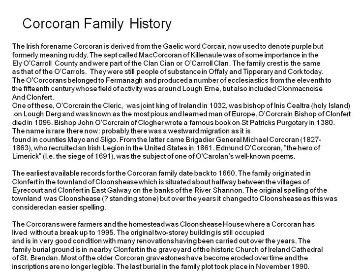 300 best Corcoran Clan images on Pinterest