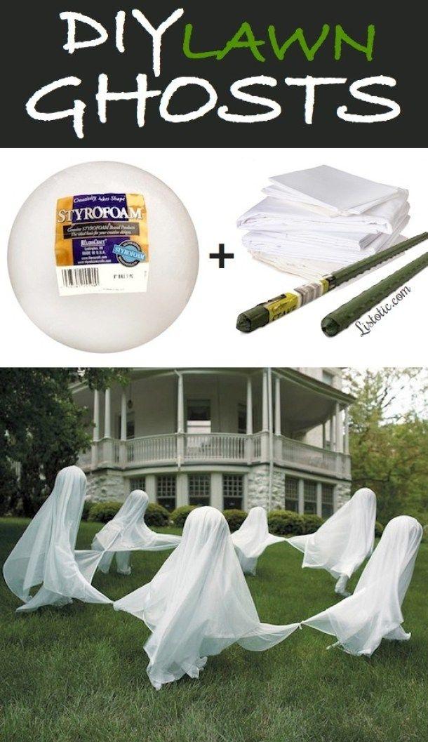 How to Make Cardboard Tombstones Diy outdoor halloween decorations - outdoor ghosts halloween decorations