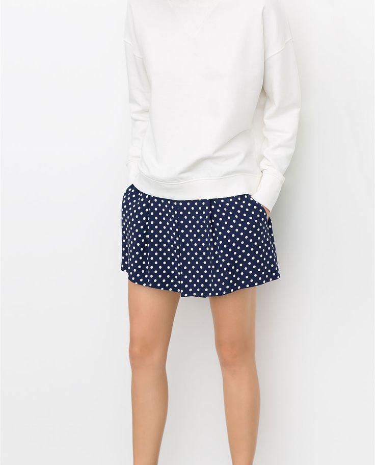 Image 3 of PRINTED POLKA DOT SHORTS from Zara