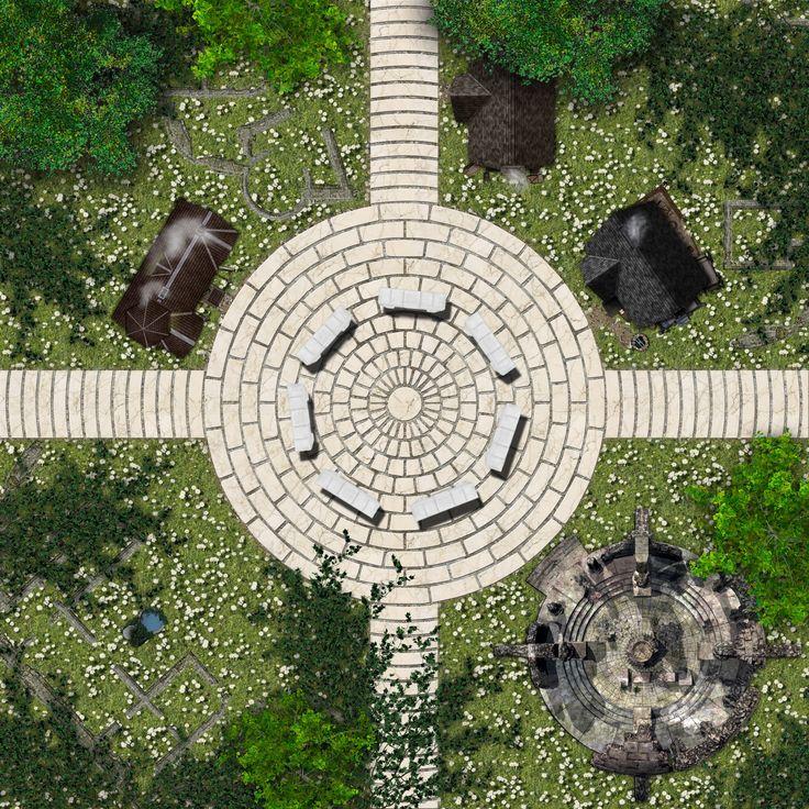plaza maps map wilderness battle dundjinni fantasy ruins dragons dungeon grid dungeons forest hamlet rpg tiles forums tile sm river