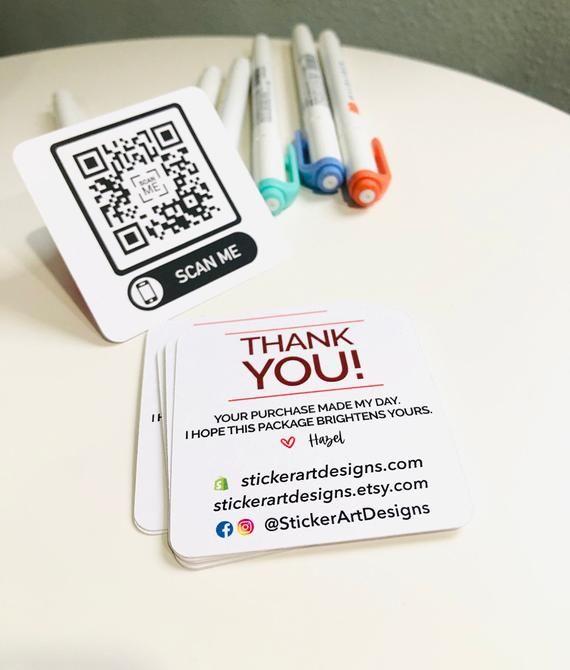 Custom Qr Code Business Cards Business Marketing Cards Craft Etsy In 2021 Qr Code Business Card Craft Business Cards Small Business Cards