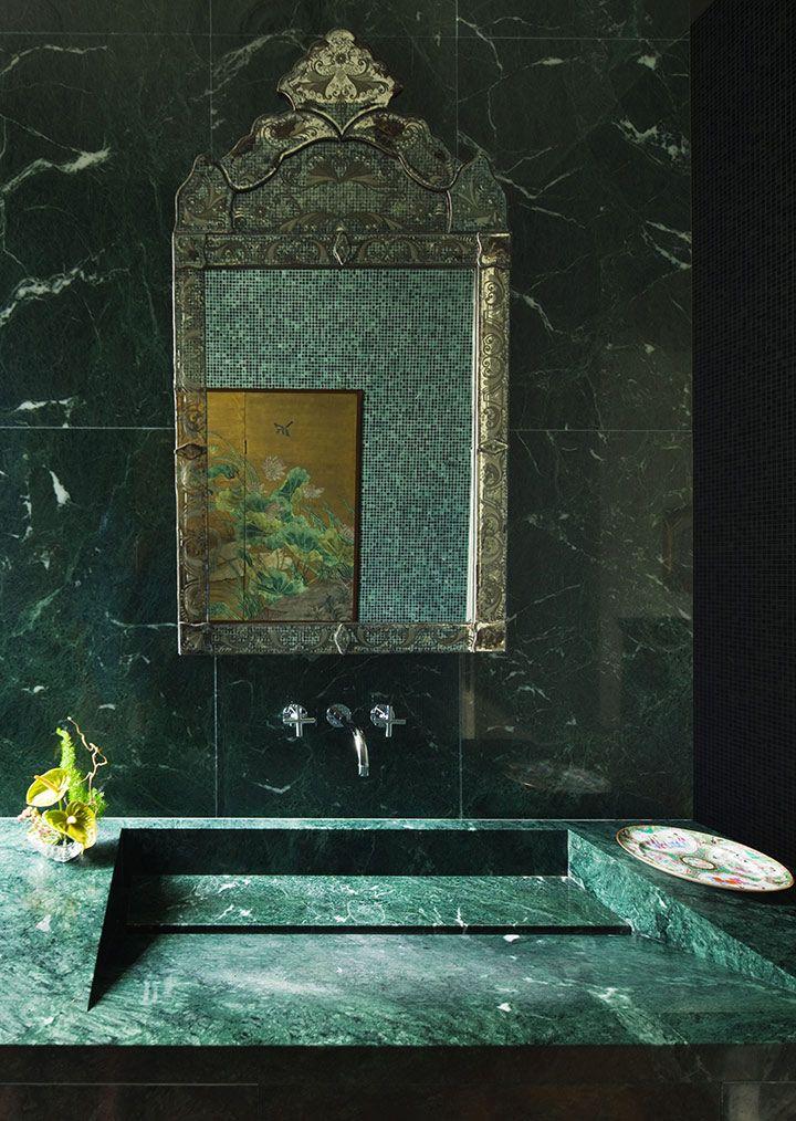 "Glamorous green ""Guatemala"" marble - Marbre vert ""Guatemala"", tellement glamour"