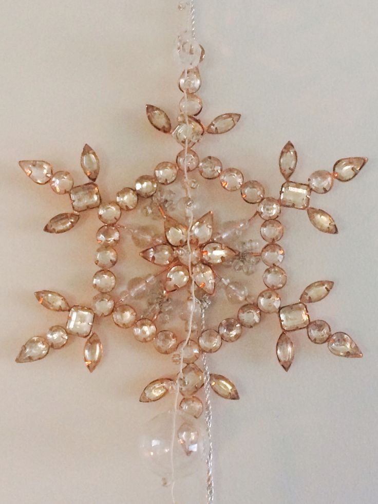 Twinkly Copper Snowflake