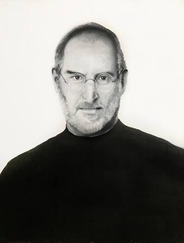 Steve Jobs oil painting on canvas, best decoration idea