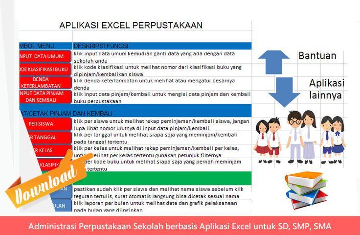 [File Pendidikan] Administrasi Perpustakaan Sekolah berbasis Aplikasi Excel untuk SD SMP SMA