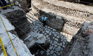 Ancient Aztec temple and ball court unearthed in heart of Mexico City