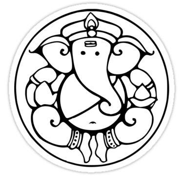 Mejores 28 imágenes de Ganesh colourings en Pinterest | Elefantes ...