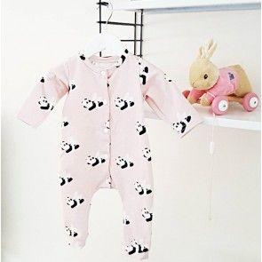 Baby onesie 'flying panda's'