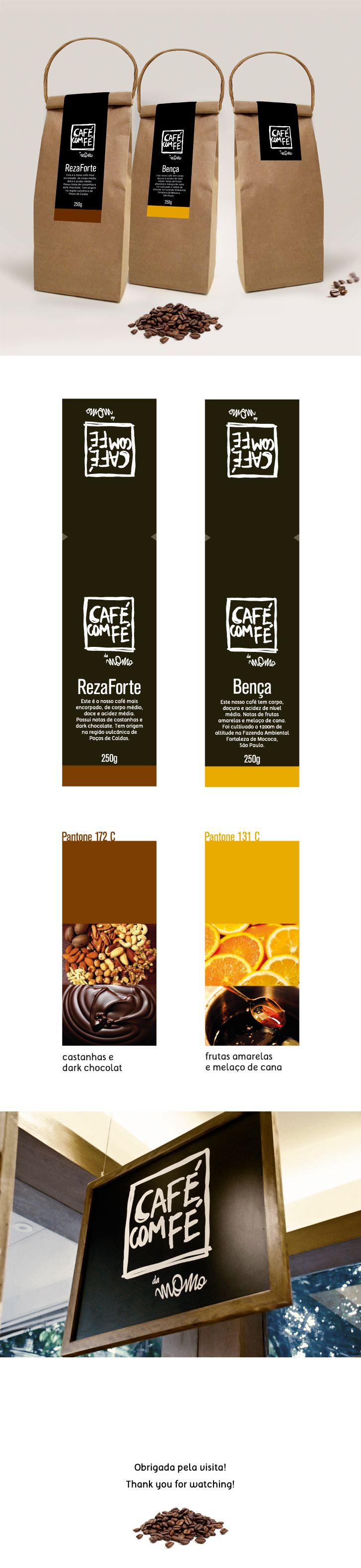 Café com Fé by Momo Gelato www.behance.net/gallery/14374849/Embalagem-Caf-com-F