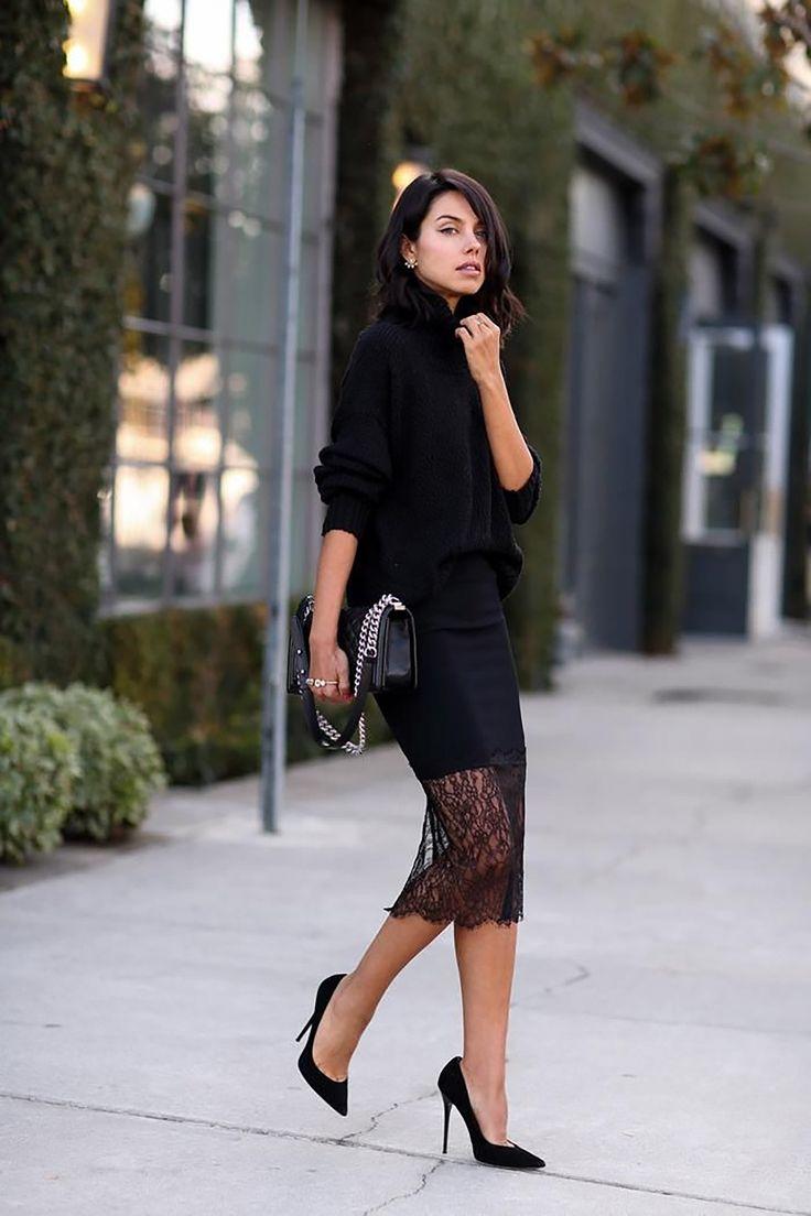 черная кружевная юбка - Поиск в Google